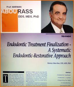 根管治療で世界的な権威であるMarwan Abou-Rass教授のファイナライゼーションコンセプト